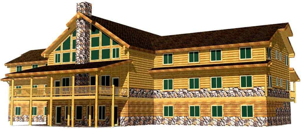Easy to Build High End Log Edifice Manufacturers