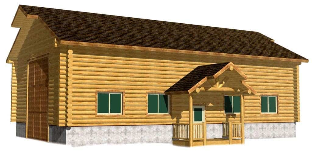Affordable High Quality Log Shop Building Package Kit