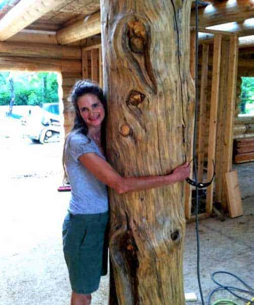 large character log posts make lazarus log homes the most popular for those who like big logs