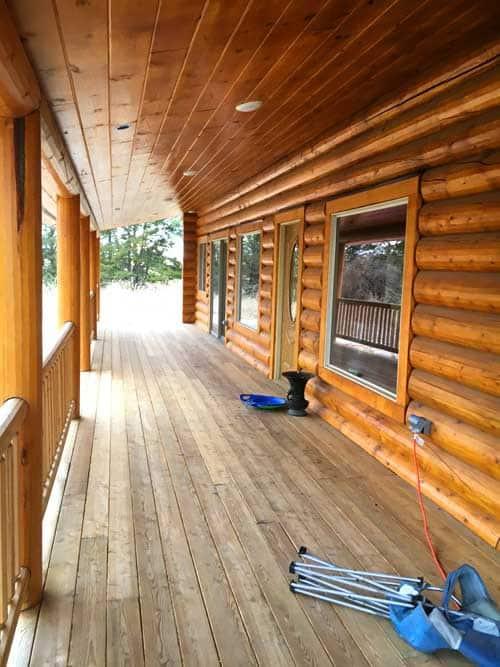 porch for a log home design