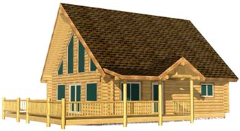 28x32 Pinnacle View 3D Front 350