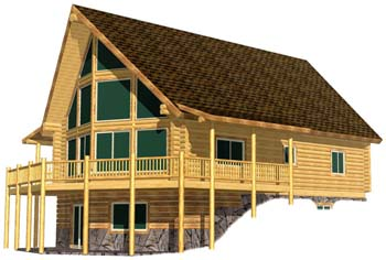 28x44 Sundset log home design 350