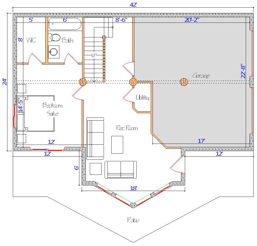 24x42 Spruce Lodge Base