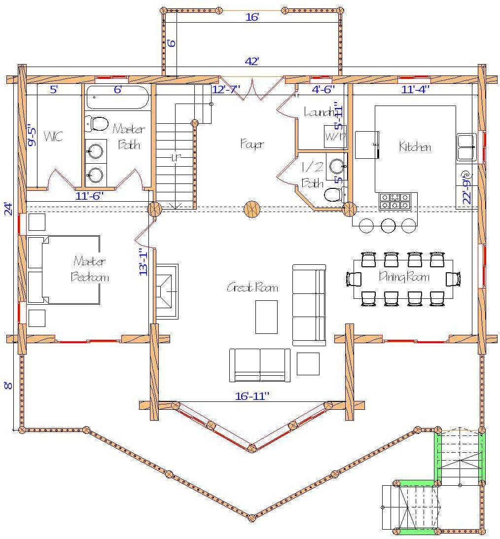 24x42 Spruce Lodge Main