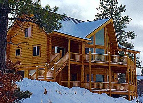 24x42 Spruce lodge lazarus logs smaller Cascade Lodge layout