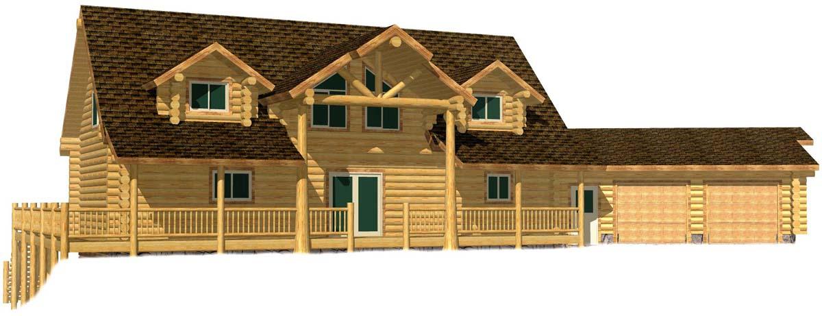24x48 Cascade Grande log cabin house near colorado resort