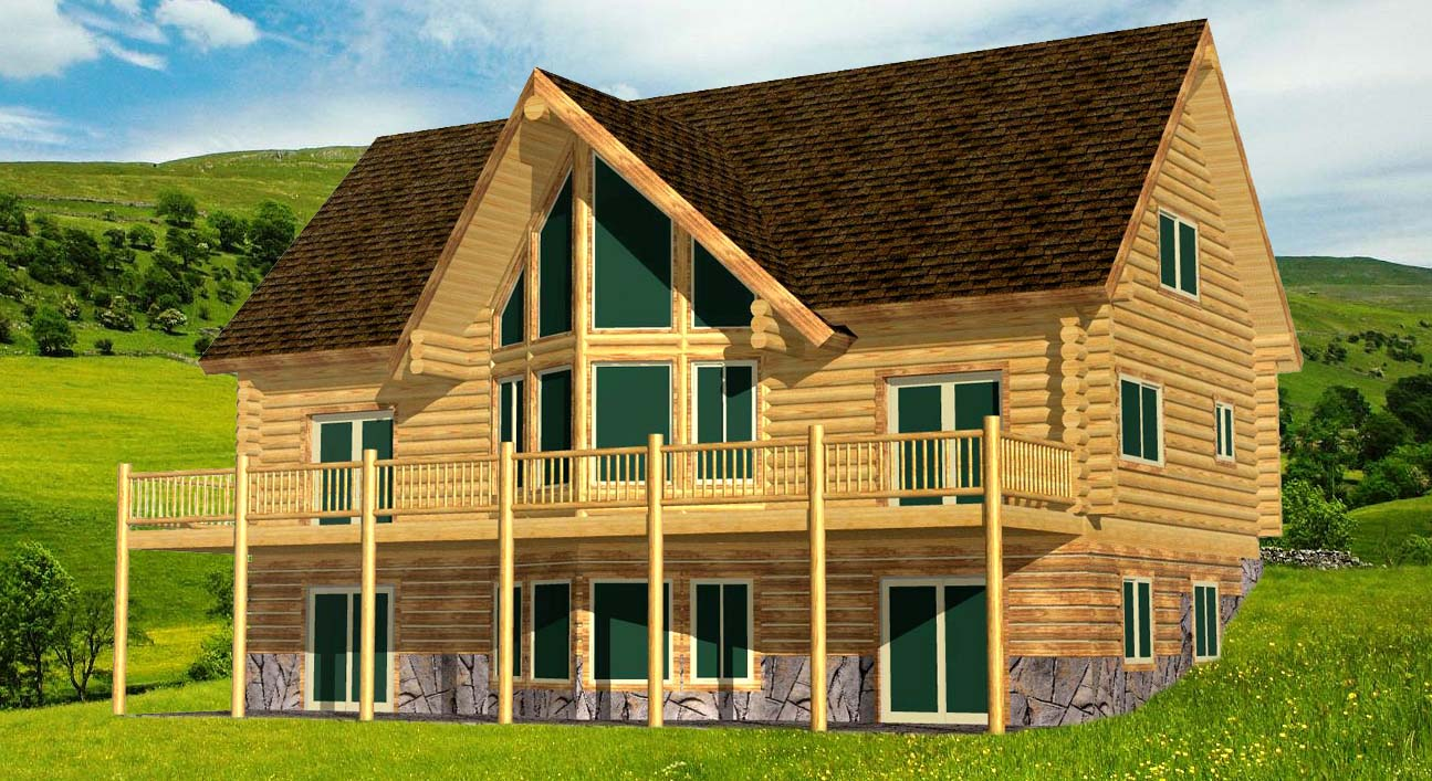 Blue Mountain Lodge best efficient log home design