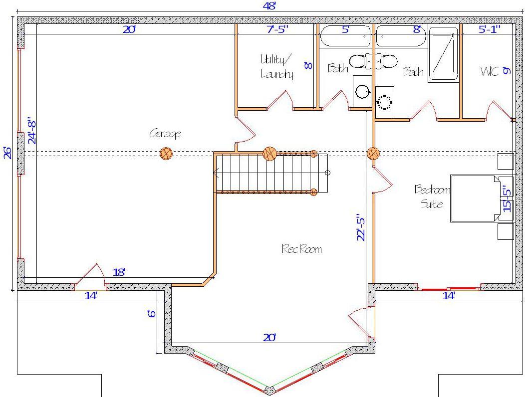26x48 Cascade Hybrid Basement layout canada