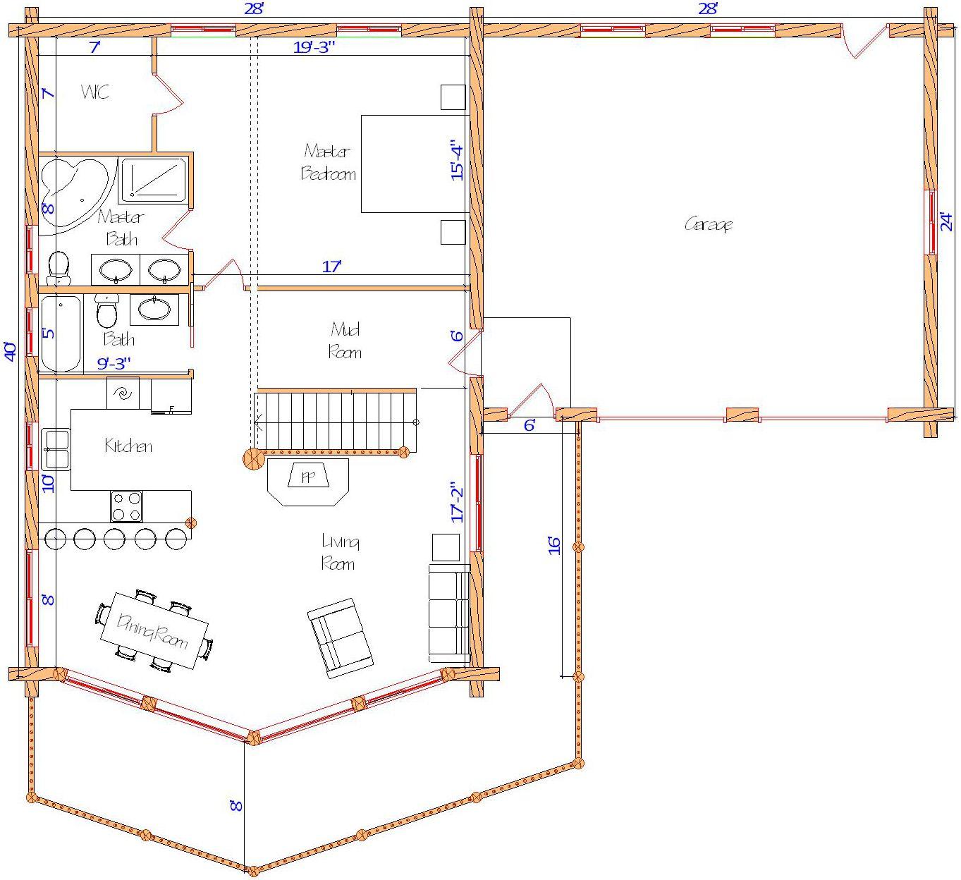28x40 Sundown Main Floor