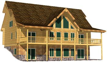 28x48 Lakeview Lodge 3D Front