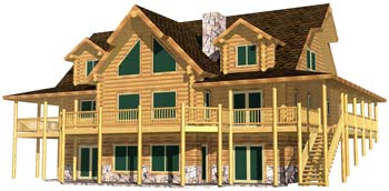 28x48 Lakeview 3D Front