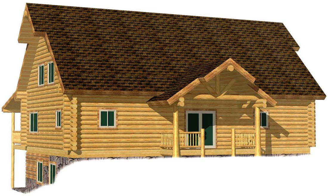 28x48 Lakeview Lodge 3D Rear