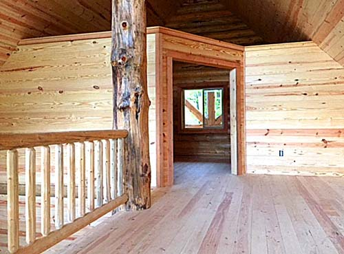 34 loft 24x32 Glacier Chalet log cabin lofted