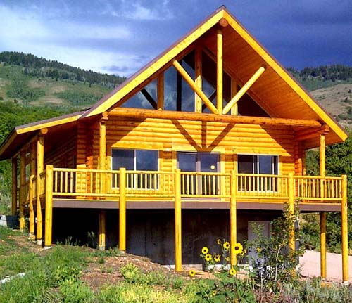 8 Antler Ridge Chalet with truss and Alpine Glass