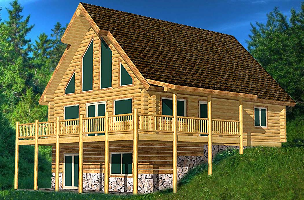 Antler Valley Log home package design efficiency