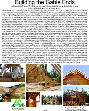 Construction Guide building log gable ends