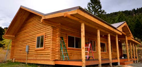 Eagle Creek log cabin package 3d