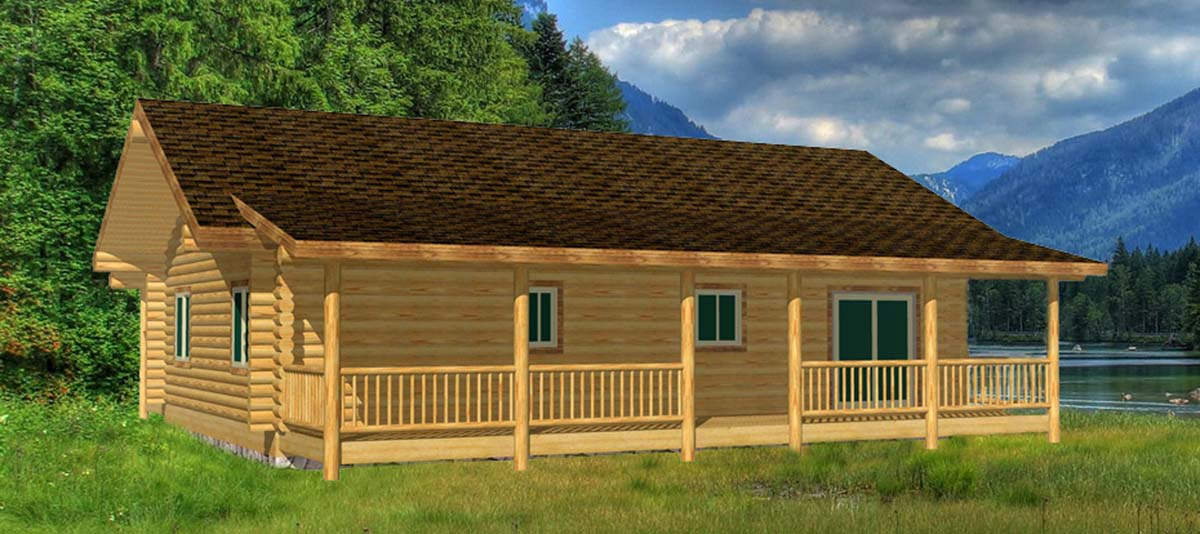 Eagle Creek small ranch style log cabin design north dakota