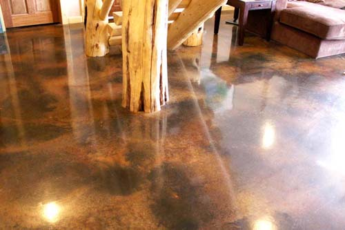 beautiful concrete stain by glen prestegaard whitefish montana