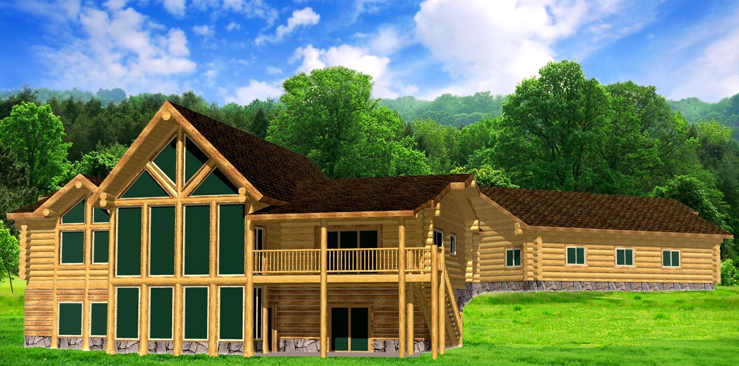 Majestic Mountain Ranch Log home package