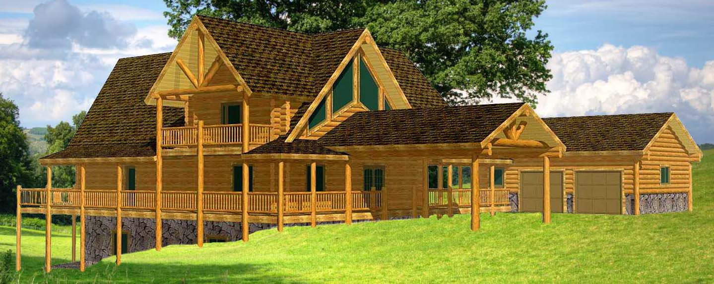 Yellowstone Chalet log cabin package design from Lazarus near wyoming border idaho