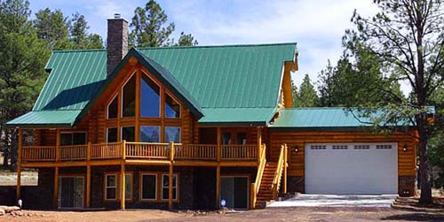 cascade lodge metal roof log package plan 500