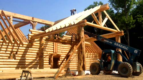 entry log truss portico 500