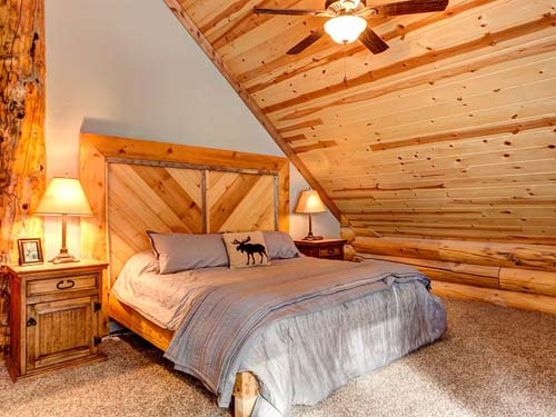 log cabin loft bed headspace colorado home