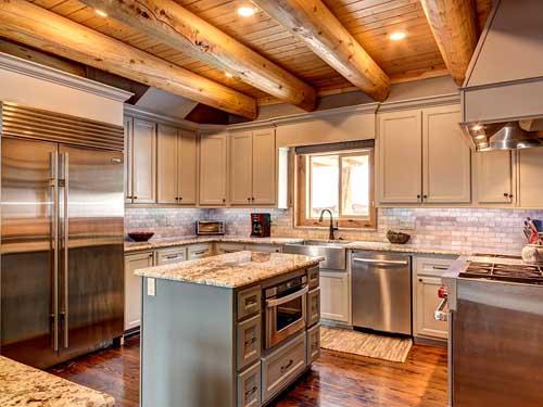 log home kitchen breckenridge colorado ski rental