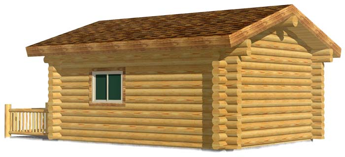 16x20 Camp Cabin log with porch smaller home