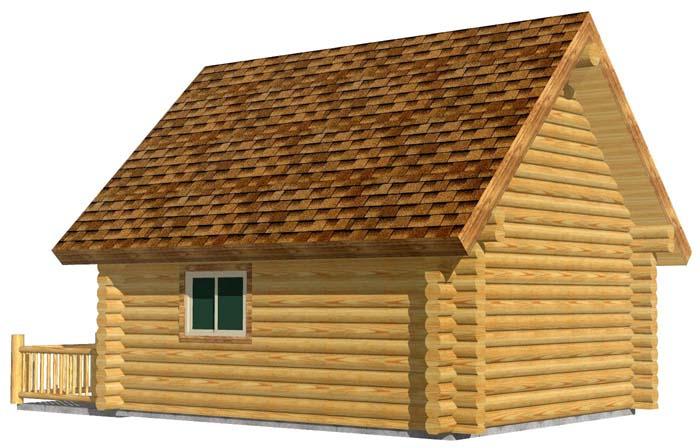 16x20 Camp Cabin 3D Rear