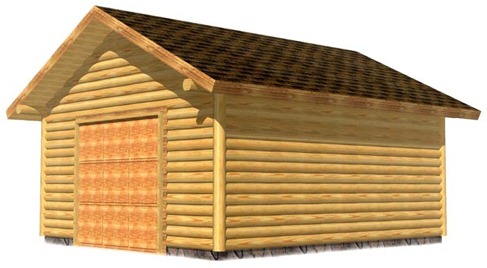 18x20 Garage sided 3D Front