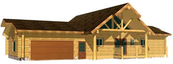 24x64 Highlander Ridge 3D Rear view entry side columbia falls whitefish montana