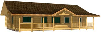28x48 Eagle Ranch in ennis whitefish montana based manufacturer