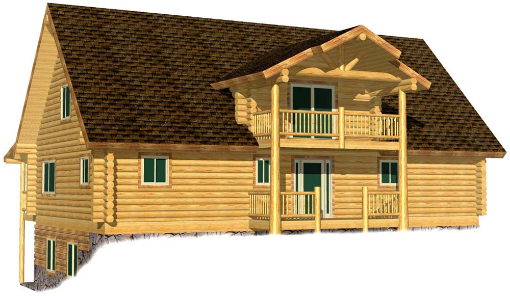 28x48 Ponderosa 3D Rear alternate entry