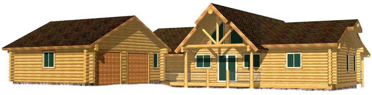30x58 Highlander Suite log home floorplan ski idahos resorts