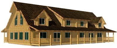 32x36 E Cape Duplex 3D Front Wyoming 400