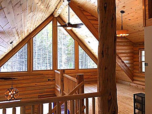 34 loft option up to prow glass cheap log cabin square footage whitefish montana