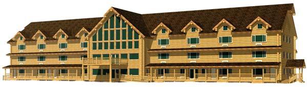 50x200 log Hotel 3D building 600