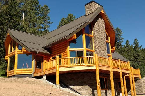 Double Mountain custom log home package Lewistown Montana Missouri