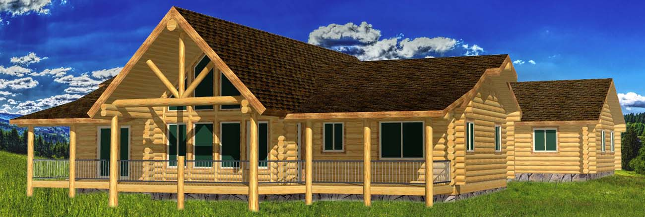 Highlander Ranch suite log home free architectural design ski idaho