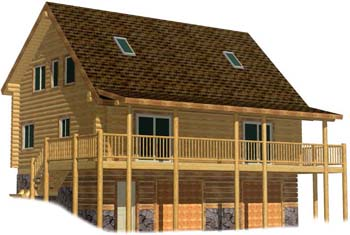 Modified Single Dwelling Duplex Log Cabin Design Plans