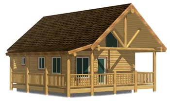 small log cabin layout with covered porch truss best cabin design