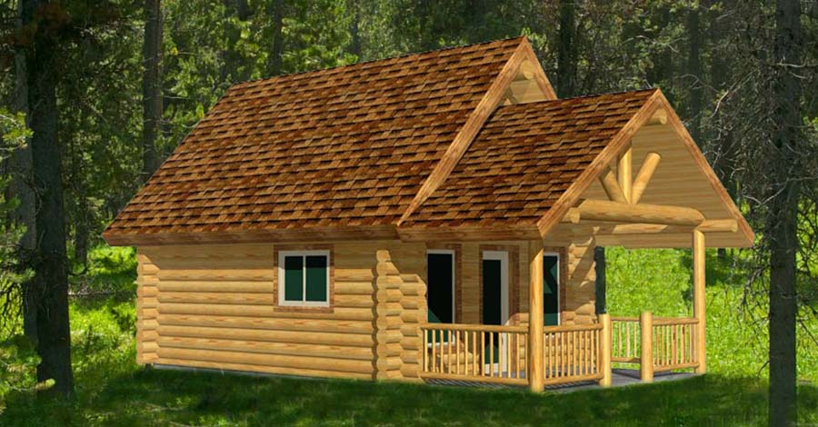 small 16x20 log cabin remote hunter camp resort