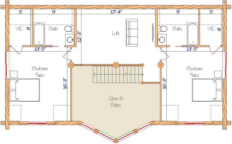 Blue Valley loft floor plan