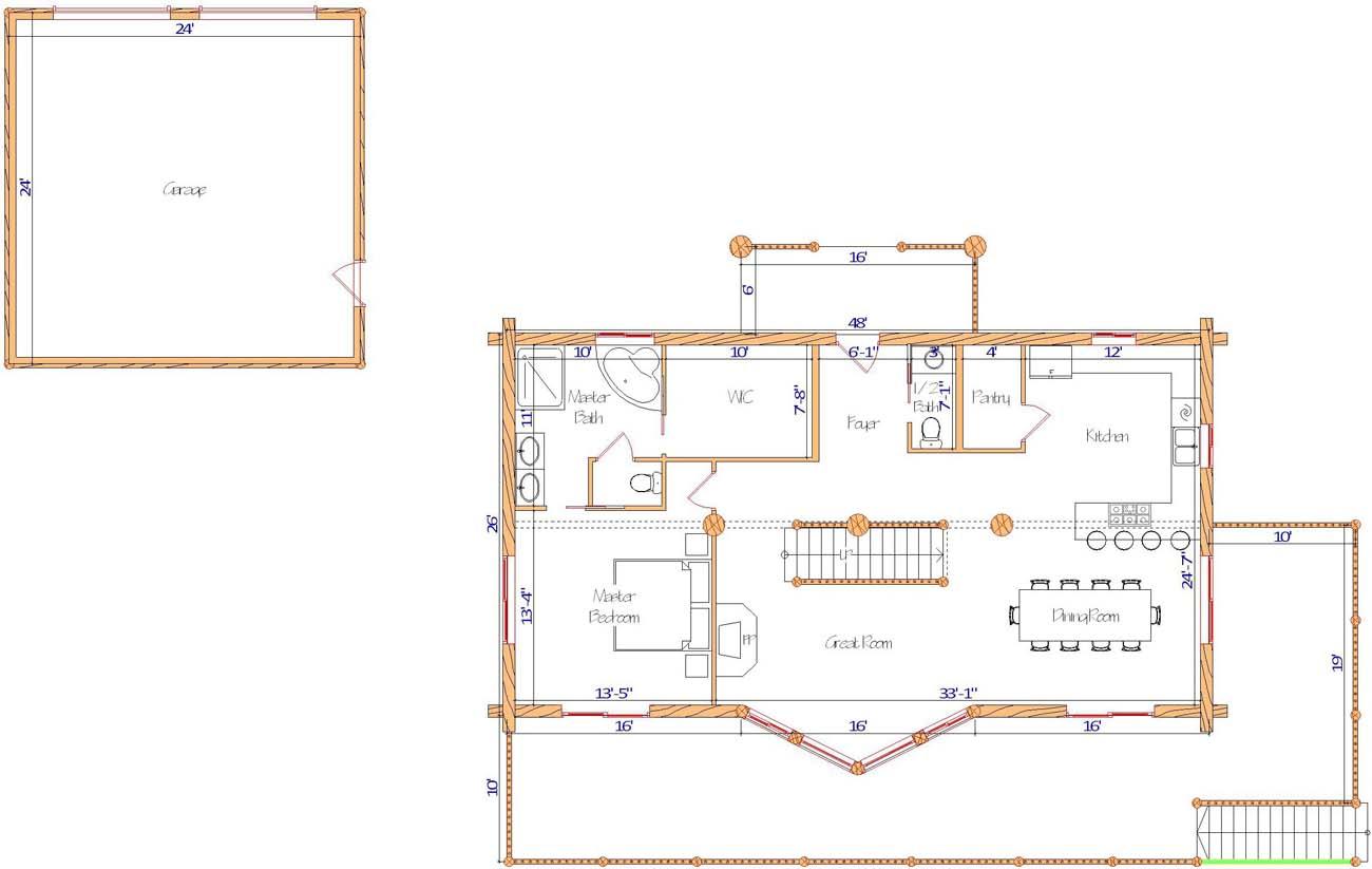 Blue Valley main floor plan design