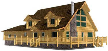 small image of cape cod grande with garage and dormers, full porches