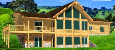 Best ranch style log cabin one floor with basement and garage